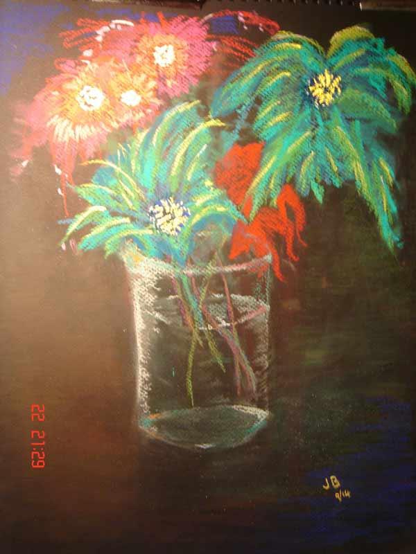 Flowers in skyrockets